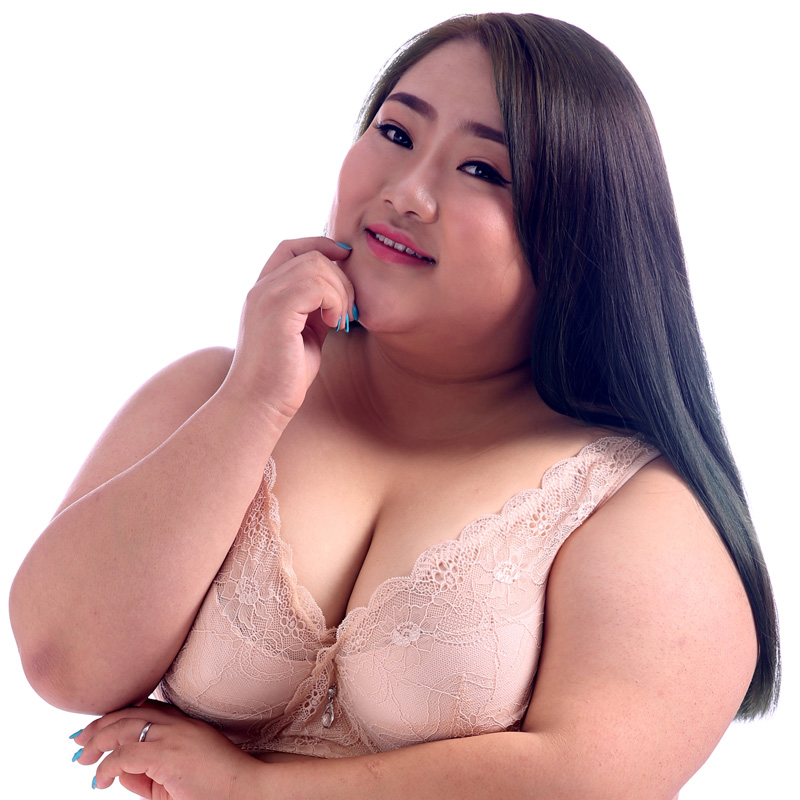 e13af14d86 New Plus Size Bras Big Breast Lace Full Cup Push Up Bras 32 75 36 85 40 95  100 105 B C D E F G H I J Free Shipping