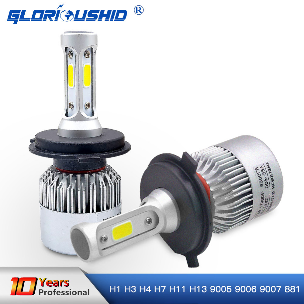 Led H7 H4 H1 H3 H8 H11 H13 9005 9006 9007 881 LED Headlights 6500K 72W 8000LM Automobiles Part Lamp Bulb Auto Car Light
