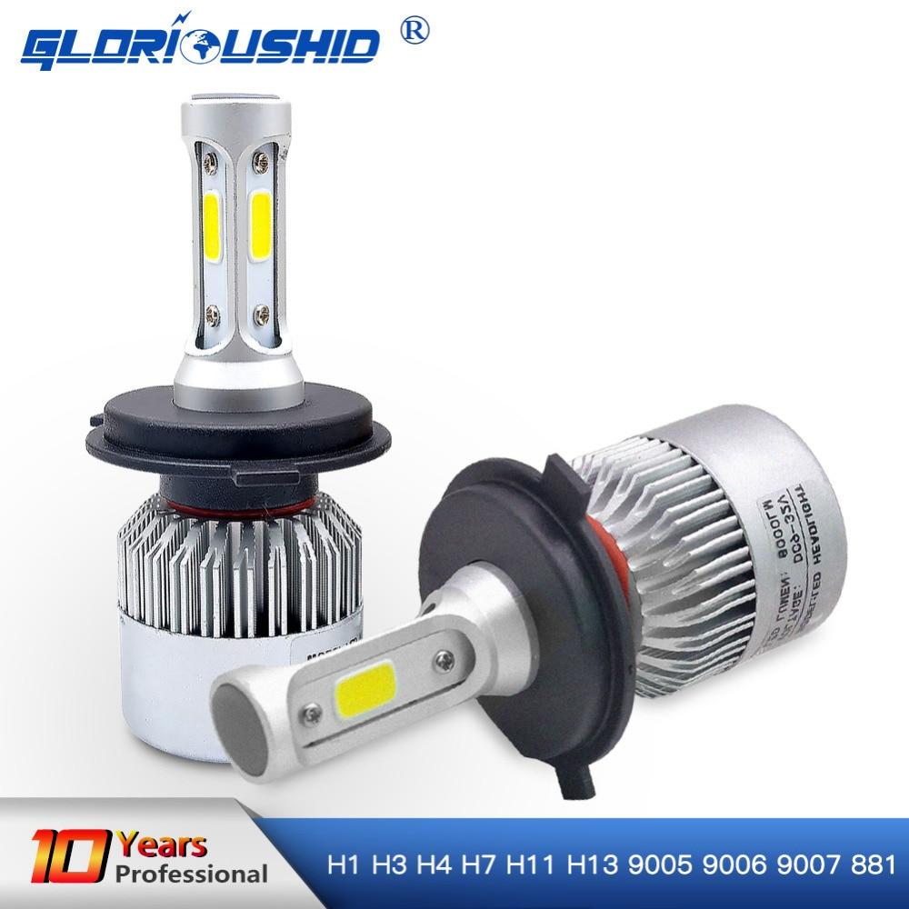 Led H7 H4 H1 H3 H8 H9 H11 H13 9005 9006 HB4 9007 881 LED Headlights 6500K 72W 8000LM Automobiles Part Lamp Bulb Auto Car Light