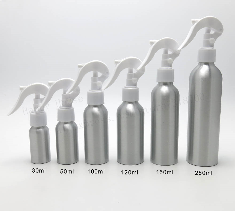 new arrival 30 x 30ml 50ml 100ml 120ml 150ml Aluminum Empty Lotion Pump Bottle Portable Press Watering Can Pot Metal Container