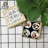 Refrigerator Magnet Super Cute Panda Souvenir Panda Glass Unique Craft with Hand Rites Gifts Kids Gift Home Decoration
