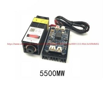 100% nowy 5500mw moduł laserowy została zmierzona z 5.5w wysokiej mocy 445nm grawerowanie maszyny akcesoria czujnik
