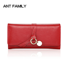 hot deal buy genuine leather wallets women fashion long wallet female high quality card holder wallets leather purses ladies leather wallets
