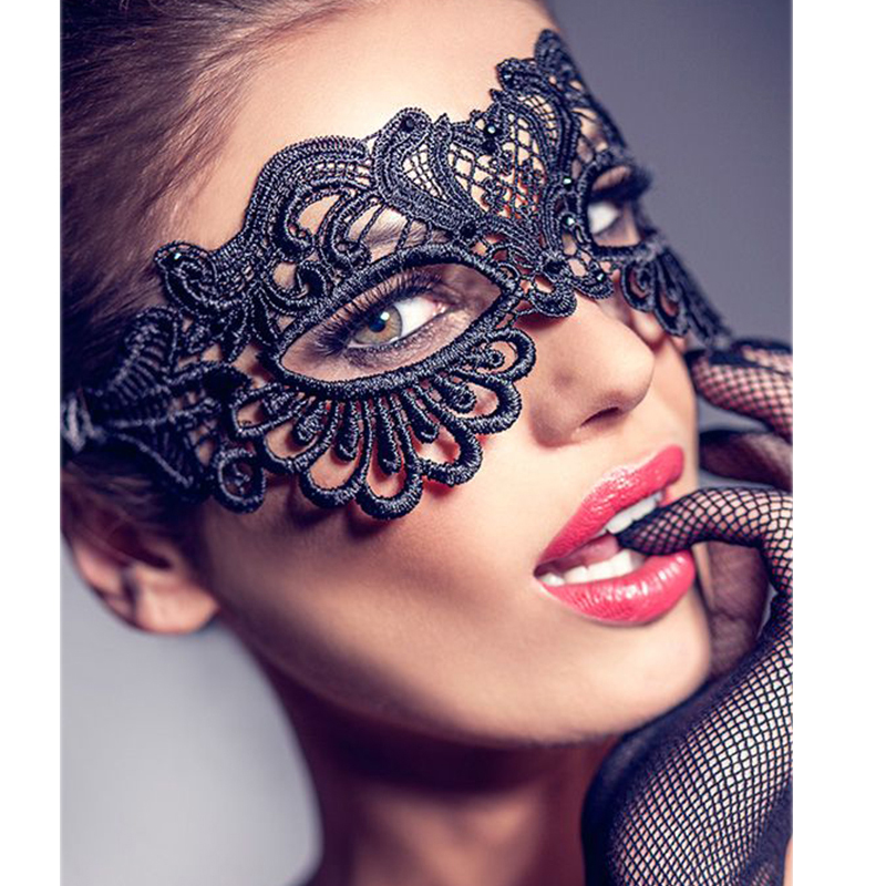 Black Masks For Party Enchanting Women Sex Mask Cutout Fashion Lace Masks For Party Dancing Wear Erotic Accessories CW80609