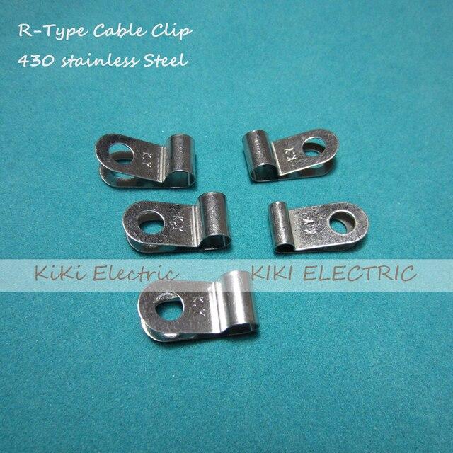 100 teile/los R typ 430 Edelstahl Kabel Clip/Draht Halter 3,0mm ...
