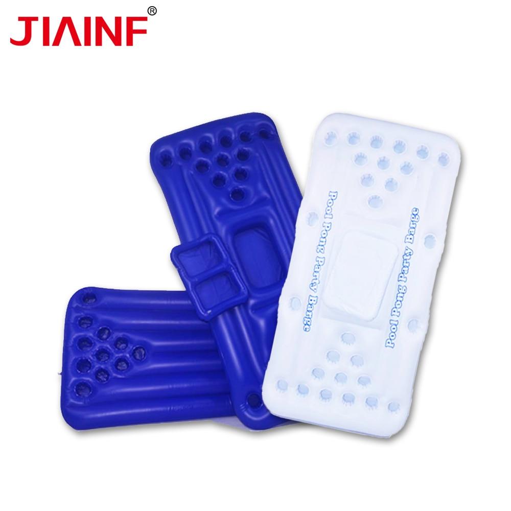 JIAINF gonflable multi-trou porte-boissons rectangle natation flotteur support de verre fête jouets matelas à eau pour boissons tasses