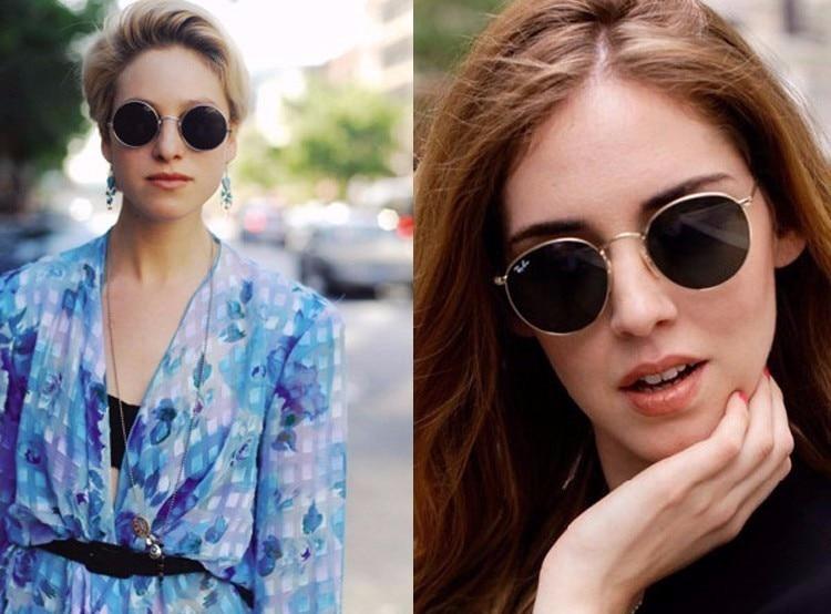 VTUQOW Luxury Round Sunglasses Women Brand Deisgner Retro Vintage Aviator Sun Glasses For Women Men Lady Female Sunglass Mirror (2)