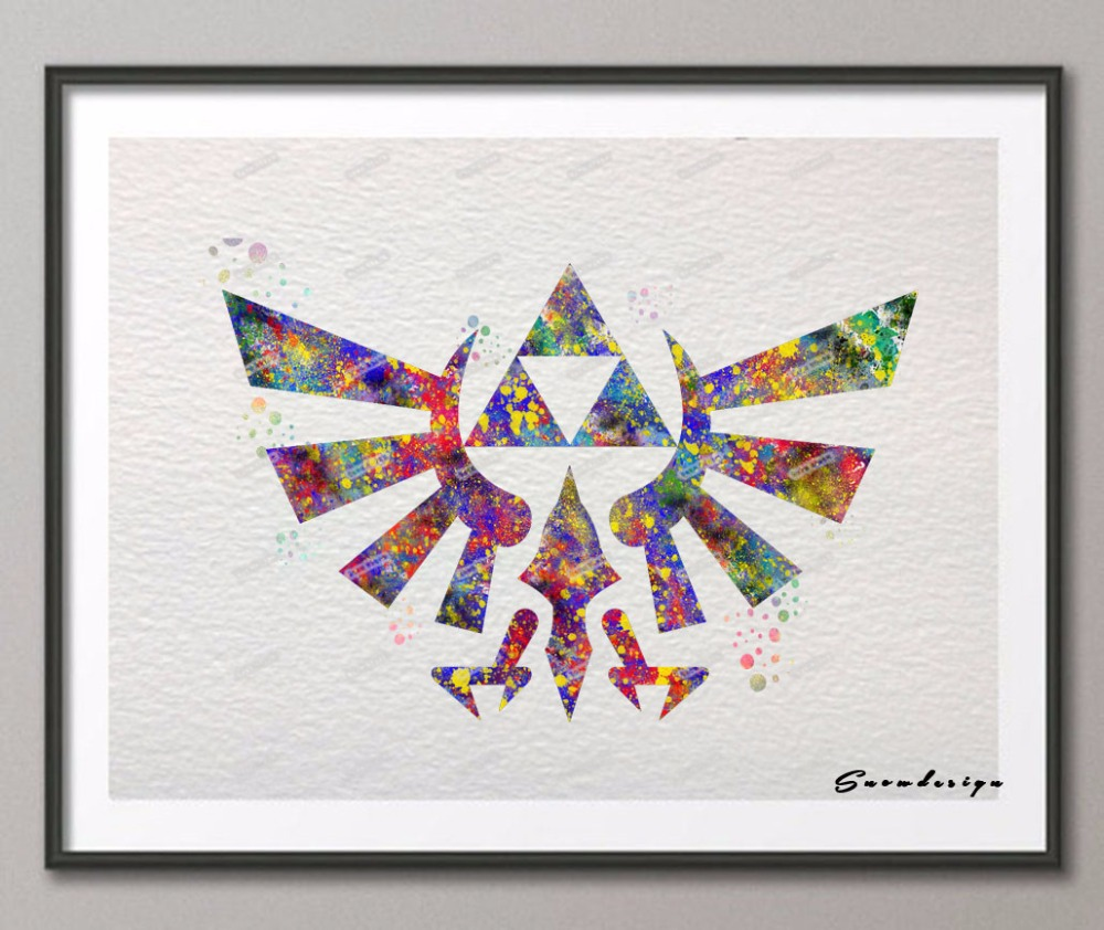 Popular zelda wall art buy cheap zelda wall art lots from for Decoration zelda