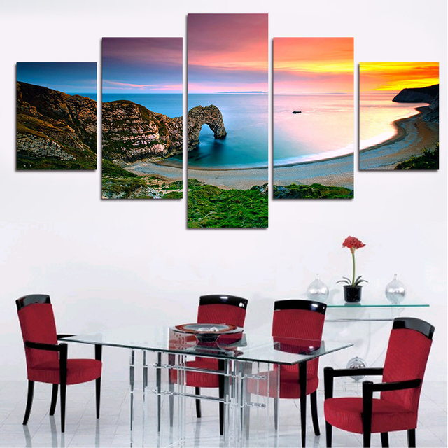 Living Room Canvas Art Part - 19: 5 Pieces/set Nature Scenery Paintings Wall Art Pictures Cuadros Decoracion  Poster For Living Room