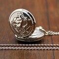 Moda Plata Fullmetal Alchemist Tema Fob Reloj de Bolsillo Pendiente De Cadena Collar Envío de La Gota