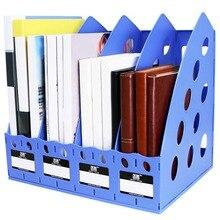 TIANSE, TS-1306, пластиковая книжная полка, 4 секции, делитель файлов, стойка, держатель для бумаги, многофункциональная, для дома, офиса, рабочего стола, вешалка для хранения