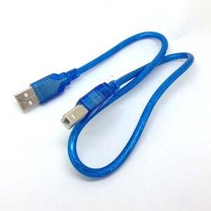 Image 5 - 1,5 фута 50 см синий короткий новый высокоскоростной USB кабель 2,0 A на B штекер для Canon Brother Samsung Hp Epson шнур для принтера
