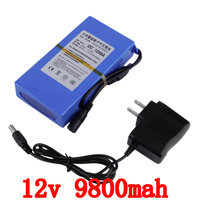 Free Ship Lipo Battery Portable 9800mAh DC 12V 12 6V Super Rechargeable Pack EU US Plug