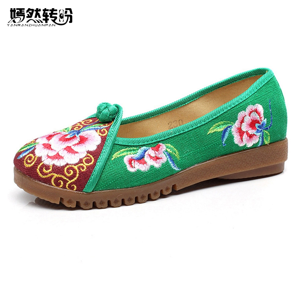 Women Flat Shoes Flower Flax Cotton Rubber Vintage Breathable Woven Casual Embroidery Canvas Linen Single Ballet Flats vintage embroidery women flats chinese floral canvas embroidered shoes national old beijing cloth single dance soft flats