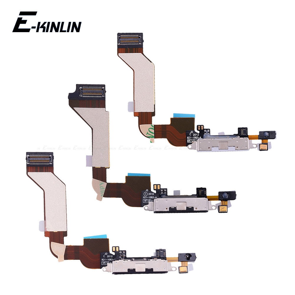 Charger Charging Port Dock <font><b>Connector</b></font> Flex Cable For <font><b>iPhone</b></font> 4 4S 5 <font><b>5S</b></font> 5C SE With MicroPhone HeadPhone Audio Jack RePlacement Part image