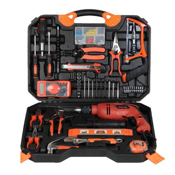 120 Tools Electric hardware tool set Woodworking Electric drill home toolbox Repair kit Impact drill