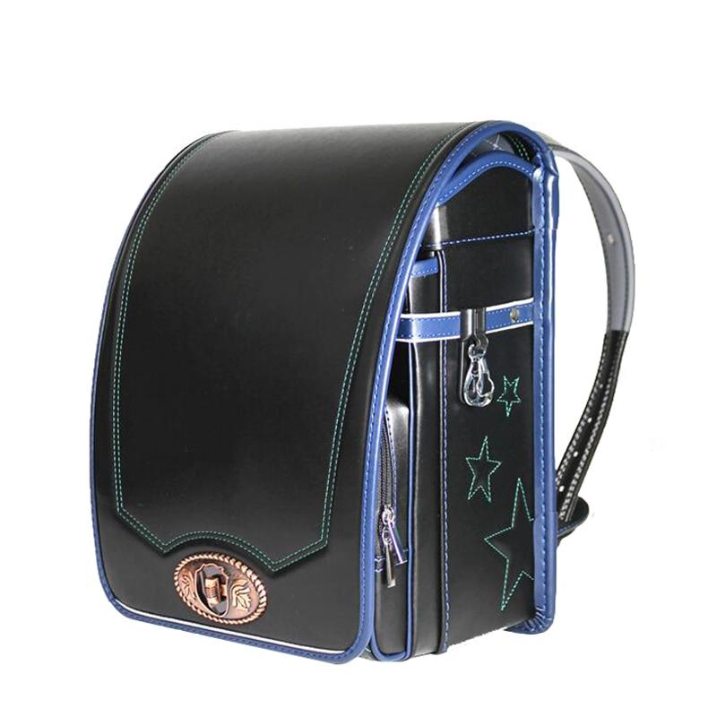 2019 NEW PU school bag for boys and girls Brand Orthopedic Backpack Children Japan Metal buckle