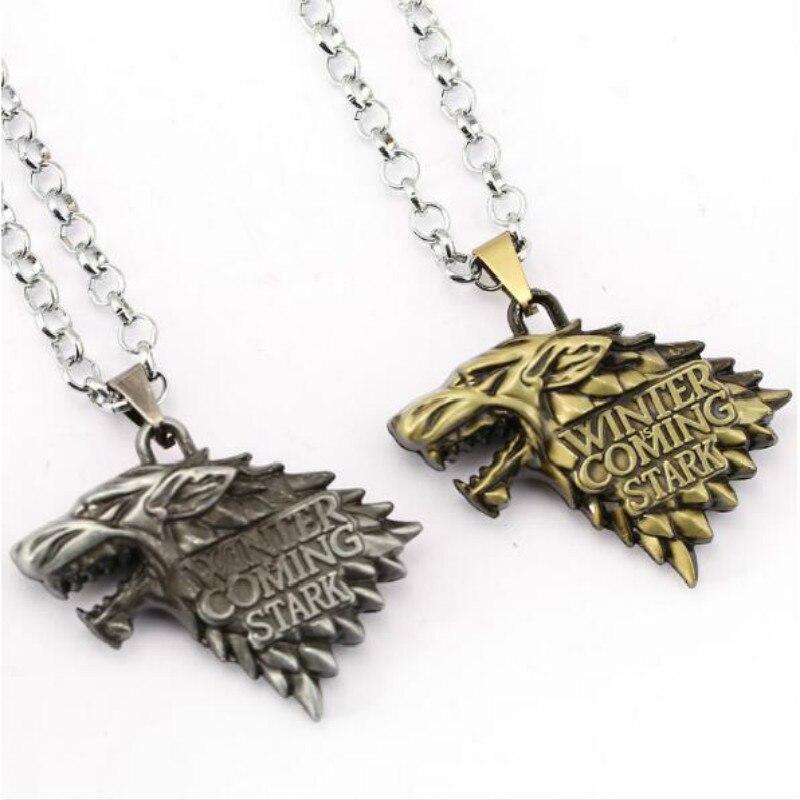 sito affidabile c3c6e 2690b US $2.49 17% di SCONTO|18 stili Game Of Throne Collana Daenerys Targaryen  del Sangue e del Fuoco Rotonda del Drago Stark Inverno In Arrivo Del ...