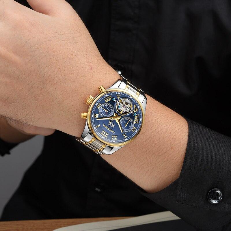 Carnival Horloge Heren Tourbillon Automatisch Mechanisch Roestvrij - Herenhorloges - Foto 4
