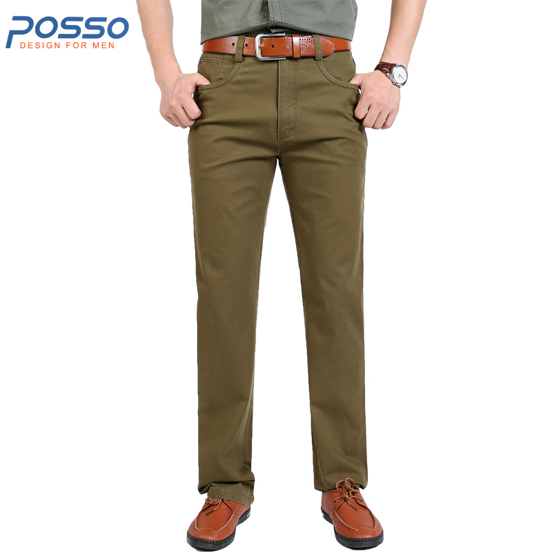 Male plain cargo pants slim fit straight office work pants 95% cotton thick winter durable work pants for men