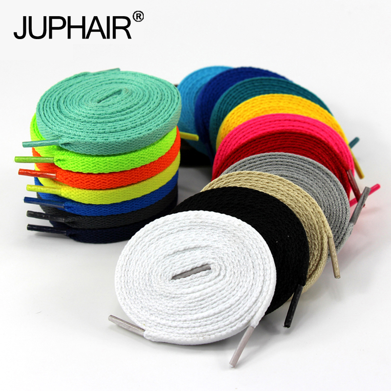 JUP 1 Pair Shoelaces Flat Colored Led Shoe Laces for Fashion Canvas Shoes Colors Girls Boys Laces Shoestring Length: 60cm-200cm