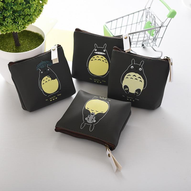 Cute Children PU Cartoon Totoro Coin Purse Wallet Zipper Pouch Case Bag Kids Bags Pouch Case Holder Bag 4 Types