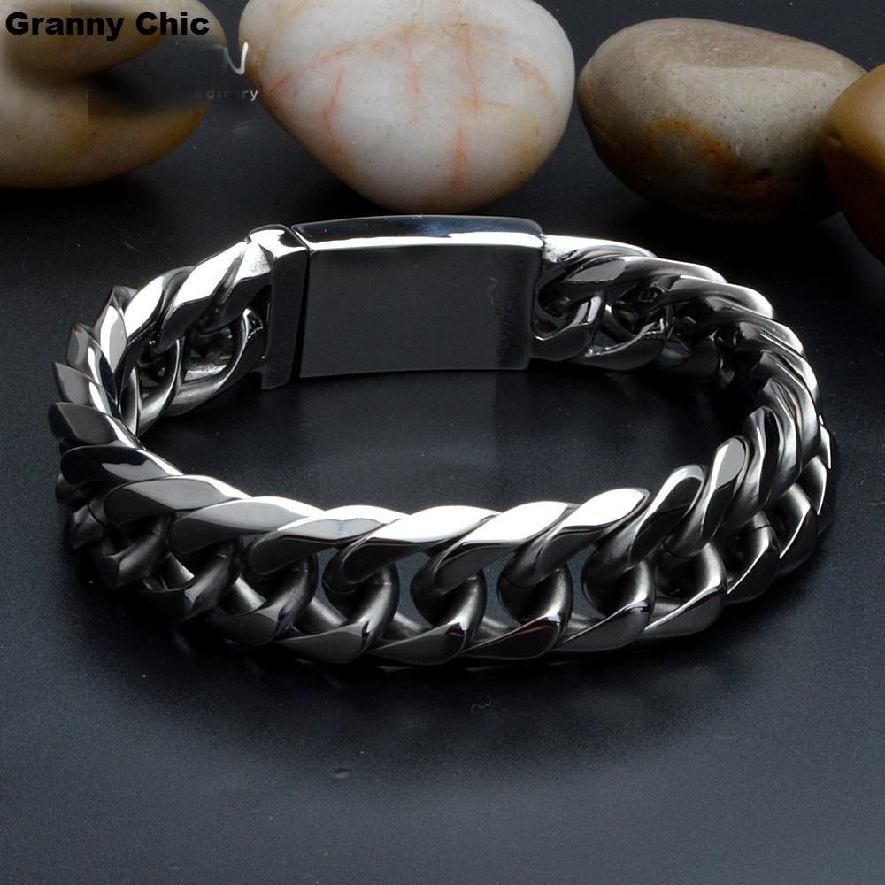 Бабушка шикарный подарок на день рождения для мужские серебряные из нержавеющей стали высокого качества из цепочки панцирного плетения тя... ...