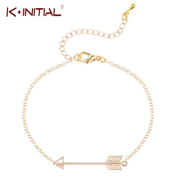 Kinitial Wholesale 10Pcs Tiny Arrow Bracelet Armband Gold Bangle Bracelet For Womens Cuff Bracelets & Bangles Statement Jewelry