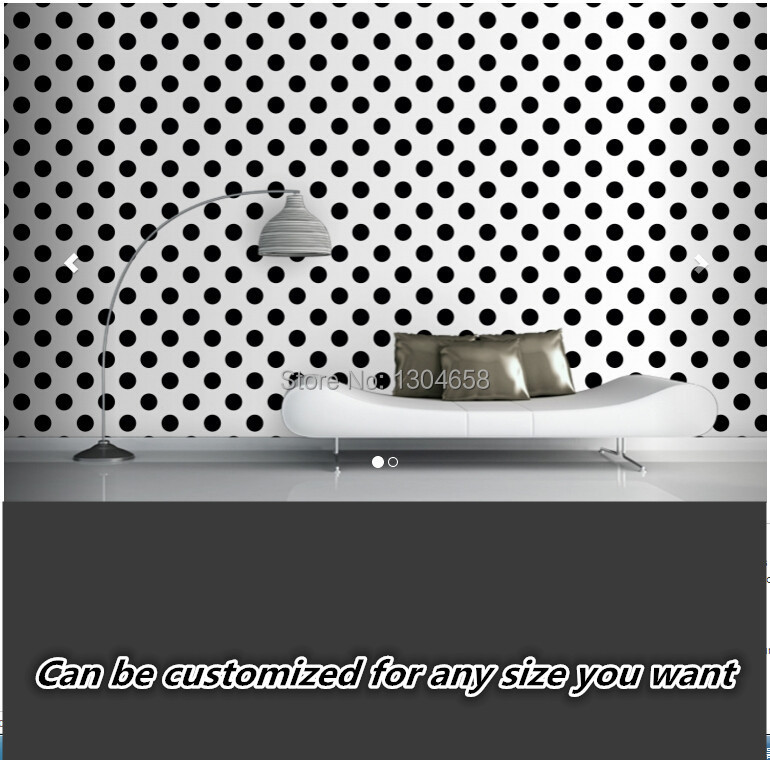 Free shipping custom 3D large murals bedroom corridor background wallpaper Black Polka Dots Wallpaper Mural free shipping custom modern large scale murals bedroom children room wallpaper wandering dino s wallpaper 3d wall mural