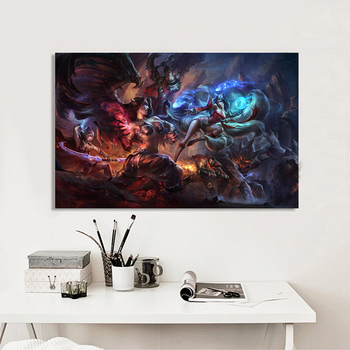 Modern game style League of Legends lol canvas art painting on the Wall for living room paints Home decoration on the Wall