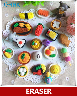 50 Pcs / Lot , Delicious Food Eraser , Chinese Food / Japanese Food Eraser