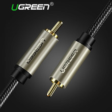 Ugreen HiFi 5.1 SPDIF RCA do RCA męski na męski kabel koncentryczny kabel Audio Stereo Nylon 3 m 5 m kabel wideo RCA do wzmacniacz TV domu(China)