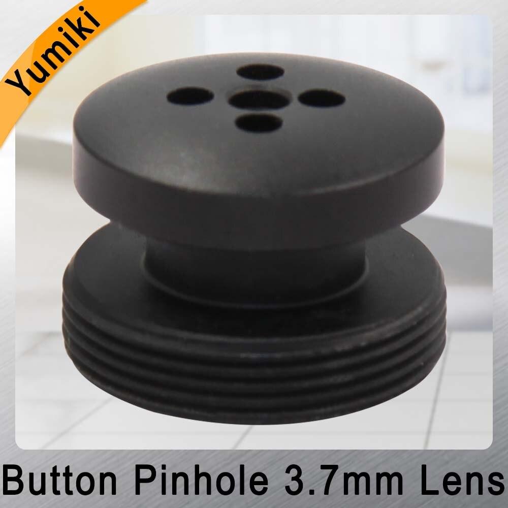 Yumiki 3.7mm Lens Black Color Button Lens Board Lens M12 LENS FOR CCTV Security Camera