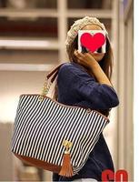 ткань в полоску брезент женщины сумочка с бахромой кисти мешок высокая 420-емкости дамы полиуретан кожа мешок женщины сумка-мессенджер