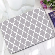 New Year Welcome Doormats Rubber Plaid Door Mat Geometric Carpet For Living Room Bedroom Floor Mats Kitchen Rugs Tapete Foot Pad