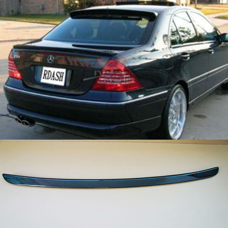 W203 Carbon Fiber Car styling Rear Trunk lip spoiler wing for Mercedes Benz 2000-2007 yandex w205 amg style carbon fiber rear spoiler for benz w205 c200 c250 c300 c350 4door 2015 2016 2017
