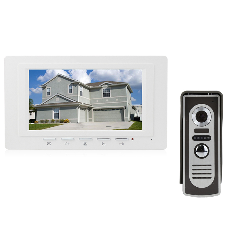 купить JEX New 7 inch LCD Video Door Phone Doorbell doorphone Intercom system kit 700TVL IR COMS Camera easy install FREE SHIPPING