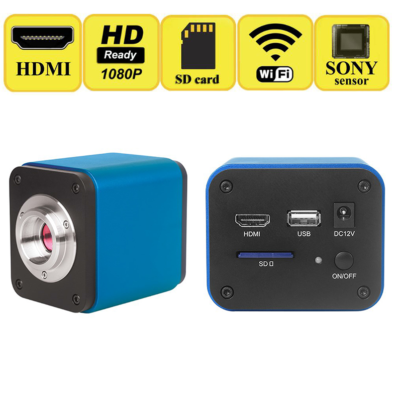multiple interfaces HD 2.0MP 5.0MP CMOS HDMI WIFI Microscope Camera SONY Sensor 60/FPS Support For iphone ipad Android