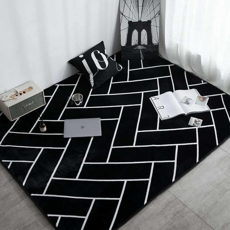 Современная мода супер мягкий бархатный утолщенный коврик для ковров прикроватный коврик для двери открытый молитвенный салон домашний Коврик для пола Противоскользящие коврики