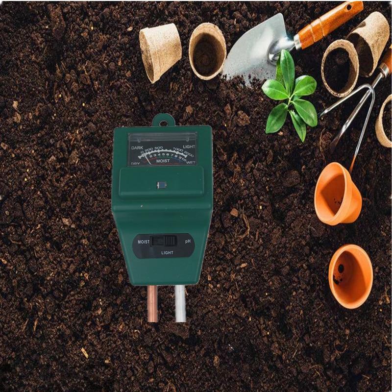 Ph Meters Straightforward 3 In 1 Ph Soil Meter Moist Moisture Light Sensor Monitor Humidity Detector For Flowers Indoor Plants Garden With Probe 15% Analyzers