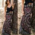 Saias BOHO Hippy Mulheres Verão Floral Vintage Longo Maxi Saia Praia Roupas Skinny Slim Casuais Verão Mulheres Sexy