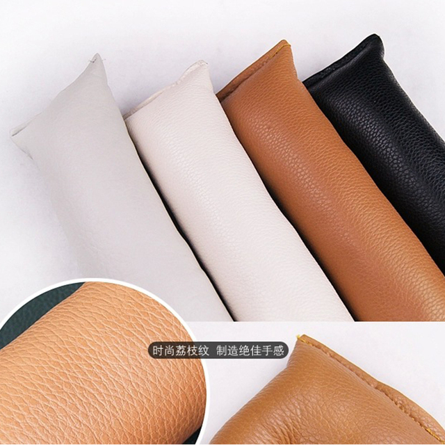 EAFC Grey Black Beige Brown Car Seat Cushion Crevice Gap Stopper PU Leather Leakproof Protector Car Seat Cover Pad