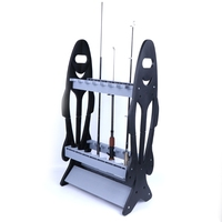Fishing Rod Display Rack Stand Holder 16 Pcs Storage Pole Support Shelf Tackle|Fishing Tackle Boxes| |  -