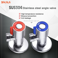 SUS 304 Stainless Steel Kitchen Bathroom Accessories Angle Valve For Toilet Sink Basin Water Heater Angle