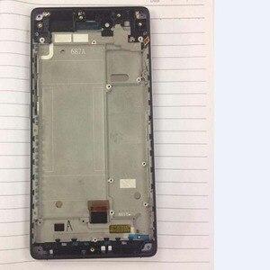 Image 1 - 100% testé meilleur travail LCD écran tactile numériseur assemblée avec cadre pour ZTE Nubia Z9 Max NX510j NX512J pièces de téléphone