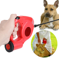 5M Retractable Pulling Rope Large Dog Leash With LED Light Mini Dustbin Pull Rope Extending Walking