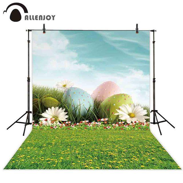 Allenjoy Photography Backdrop Easter Egg Flower Sky