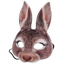 EVA Half Face Rabbit Cosplay Halloween Masquerade Masks Bunny Adult Party Mask New Year Costume Supplies