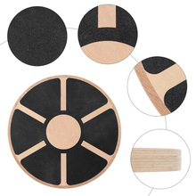 Wooden Balance Board Plate Yoga Balancer Anti-skid High Level Training Gym Exercise Fitness Equipments Accessories