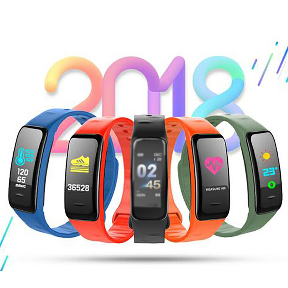 C1Plus Smart Bracelet Color Screen Blood Pressure Fitness Tracker Heart Rate Monitor Smart Band Sport for Android IOS
